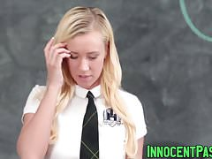Blonde teen slut Bailey Brooke enjoys in teachers cock