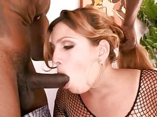 Preview 2 of Horny hottie banged by a big black cock