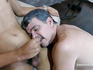 Preview 6 of Daddy Bareback Fucks Asian Boy Jordan