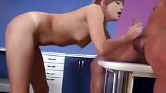Russian teen slut beautifully fucked in the pussy