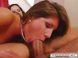 All Internal Hot babes eating cum from each others pussies