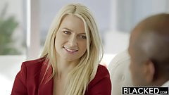 BLACKED Business Blonde Anikka Albrite Ass Fucked By a BBC