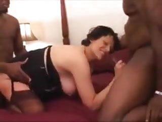 Slut Becky pregnant double team