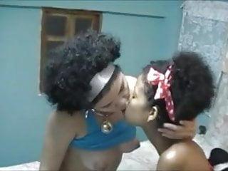 Black Power Lesbians Kiss And Licking