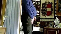 Hot grandpa showing his sexy body