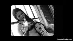 Asian lesbian loving with London and Charmane