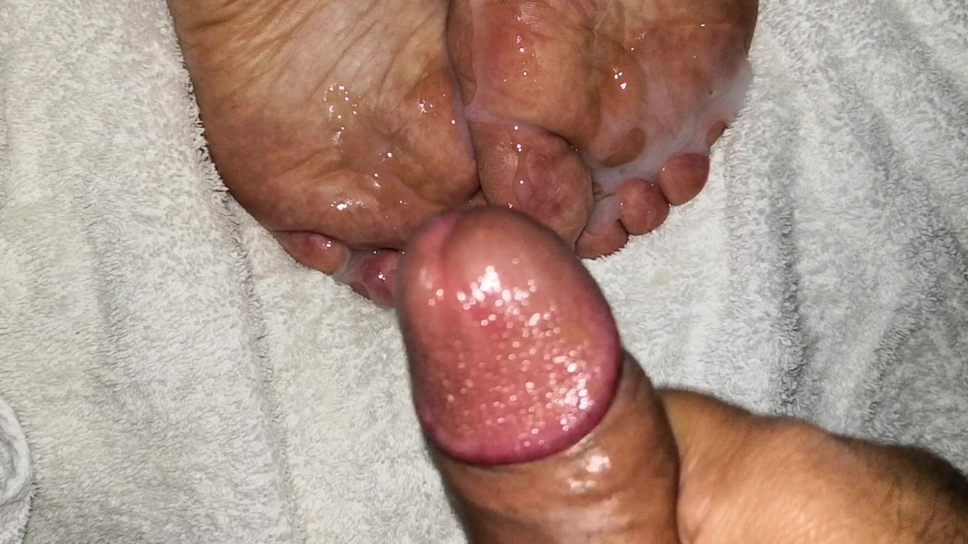 My wife anal sex and cum on feet