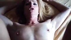 Blonde MILF takes BIG facial!
