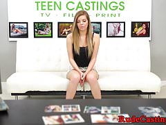 Tiny teen hardfucked at casting audition