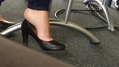 Candid feet and heels at work #6