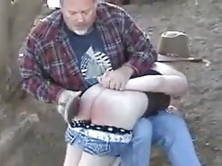 Spanked in the farm