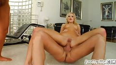 Angelina's asshole stretches to the max for cock