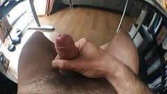 Big Cum Uncut Foreskin Masturbation Wide Angle