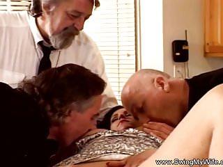 Preview 2 of Sweet Tits Swinger Threesome For Brunette Swinger Wife