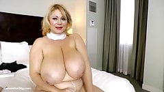 BBW Nun Samantha 38G Drills her Fat Pussy with Toy
