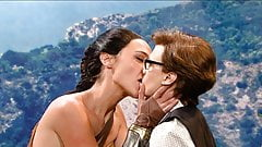 Gal Gadot & Kate McKinnon Lesbian Kiss on ScandalPlanet.Com
