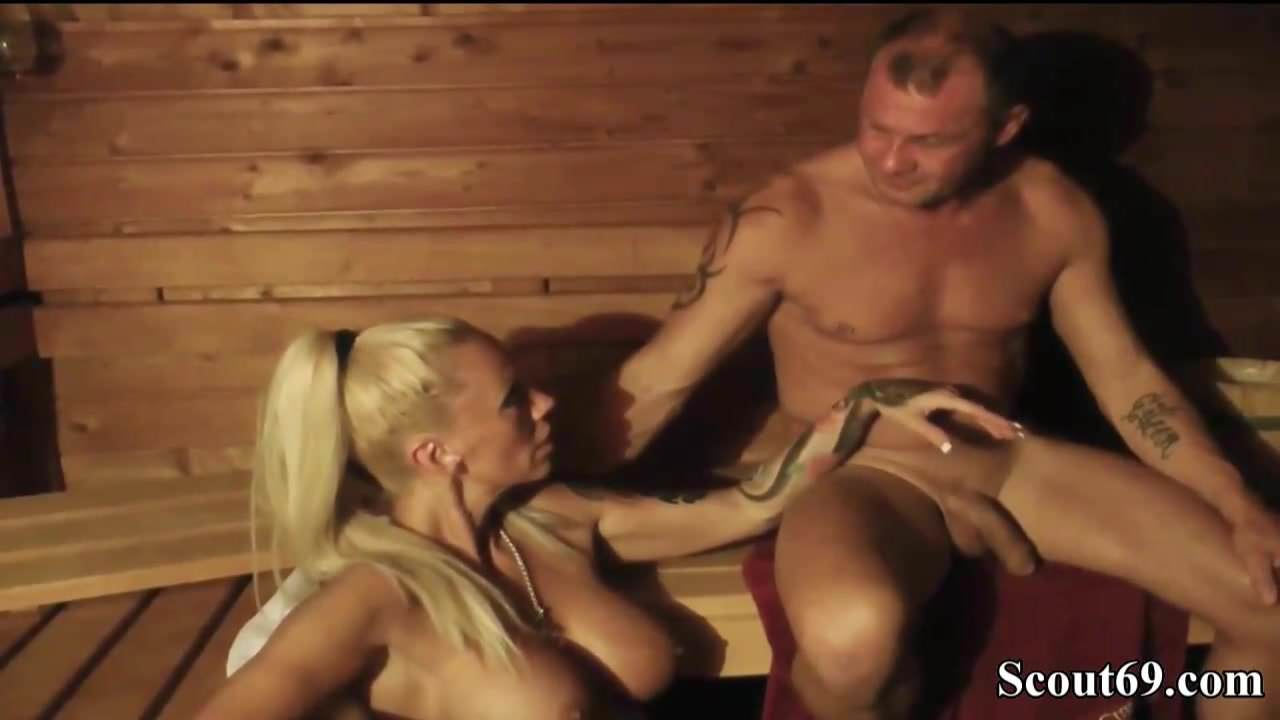 German Amateur Milf With Big Tits Fuck Stranger In Sauna De-4069