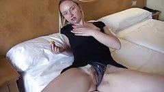 German girl with enormous cunt masturbating