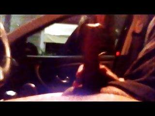 Car Flash Young whore looks my big cumshot