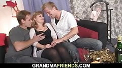 Older woman is picked up for double banging