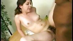 BBC Fucks Her Hairy Pussy