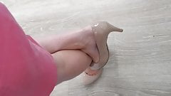 Sexy pink heels, feet and legs