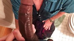 A 10 Inch BBC Soaks my Face then Cums in my Face too