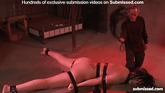 Hot babe tied and tortured with wax, zapped and spanked