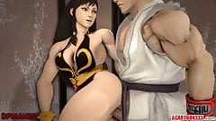 Horny and naughty Chun Li pussy rammed well
