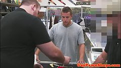 Straight pawnshop amateur plowed in the store