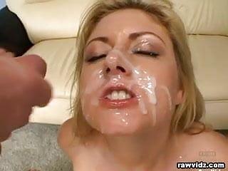 Busty Blonde Enjoyed Three Cocks