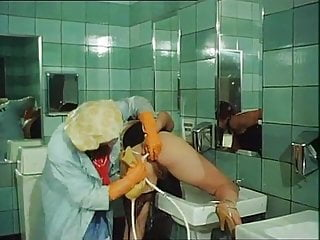 Classic Enema in Club's Bathroom