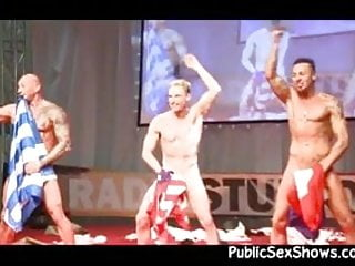 Hot male strippers getting wild