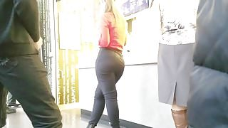 Girl with perfect big ass waiting meal