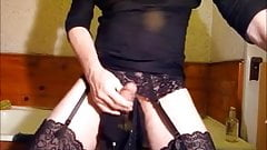 wanking again with my lodgers panties