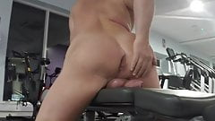 Horny at the gym again