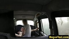 British taxi gf wanking off ca