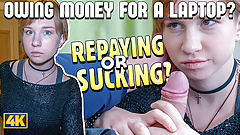 Debt4k. Sexy lassie Alice Klay gets naked and satisfied loan