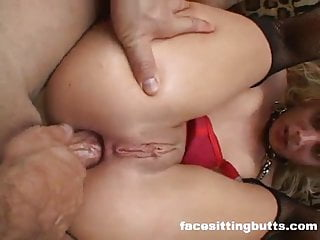 Hardcore Double Anal For This Wild Blonde Slut