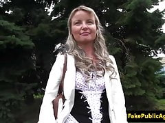 Gorgeous pulled eurobabe public fuck and suck