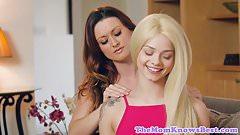 Lesbian milf facesitting stepsons girlfriend