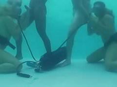 Scuba pool foursome