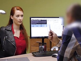 Loank Agent Screws Busty Redhead Because She Really