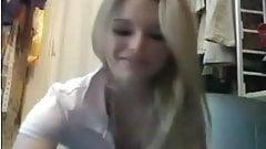 Blonde teen on webcam