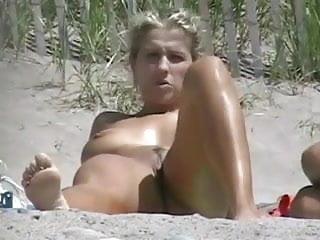 Nude Beach - Cute Big Boob Blond