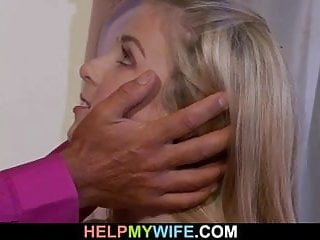 She gets fucked right in front of her hubby