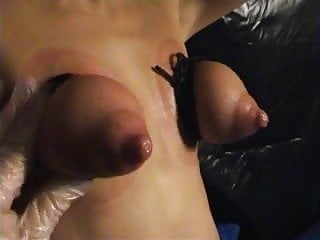 BDSM leaking tits used part 1