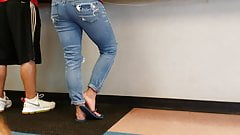 Candid Blue Flip Flop Shoeplay With A Nice Back End