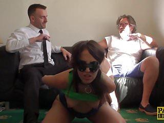 UK sub slut deepthroated while tiedup