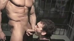 Muscle master's cock slave